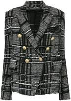 Balmain check blazer
