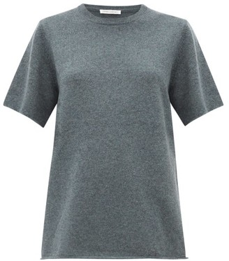 Extreme Cashmere - No.64 Wave Stretch-cashmere T-shirt - Womens - Khaki