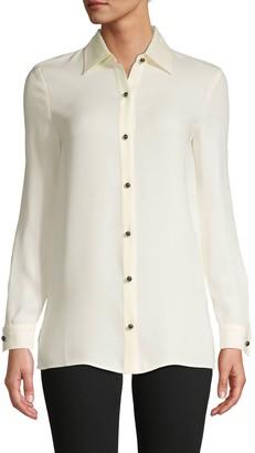 St. John Long-Sleeve Silk Shirt