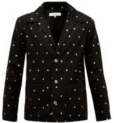SASQUATCHfabrix. Metallic-print Cotton-crepe Tailored Shirt - Mens - Black Multi