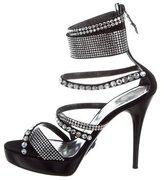 Philipp Plein Embellished Platform Sandals