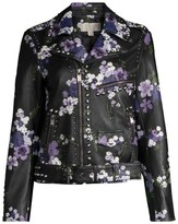MICHAEL Michael Kors Bouquet Studded Leather Moto Jacket