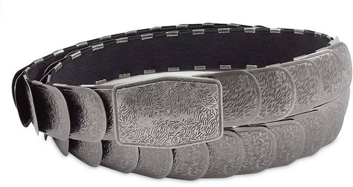 Fashion Focus Accessories Textured Stretch Metal Belt