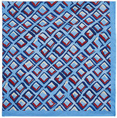 Luciano Barbera Men's Abstract-Diamond-Print Pocket Square