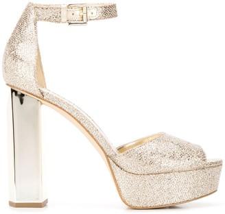 MICHAEL Michael Kors Petra glitter mesh platform sandals