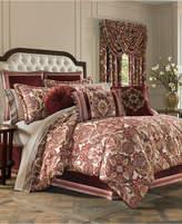 J Queen New York Rosewood Burgundy Queen 4-Pc. Comforter Set Bedding