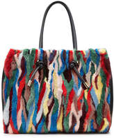 Marni Leather and Mink Fur Shopper