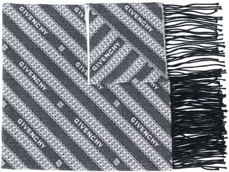 Givenchy Chain-Pattern Logo Scarf