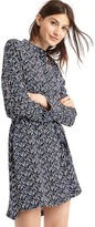 Gap Printed tie-belt long sleeve shirtdress