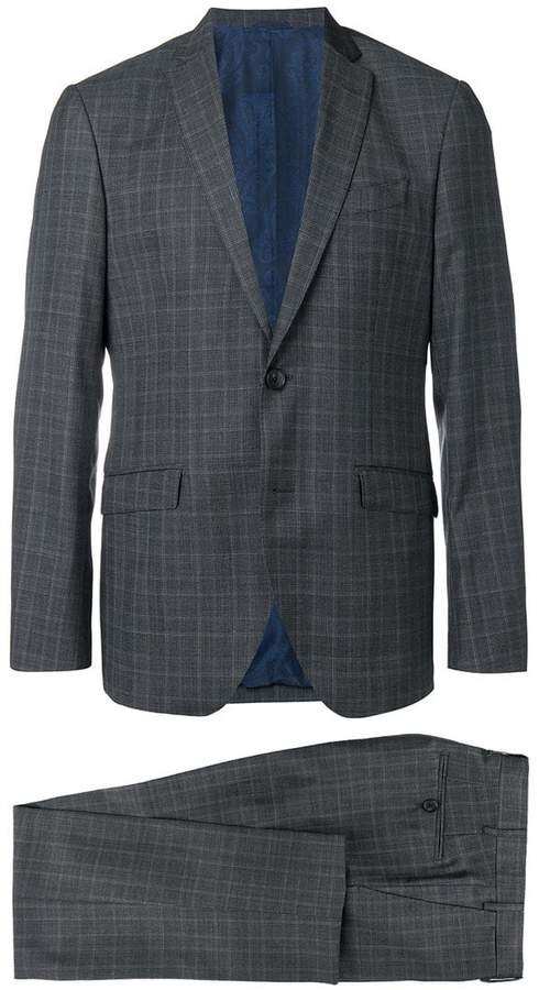 Etro checked suit