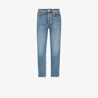 RE/DONE Light Wash Stove Pipe Jeans