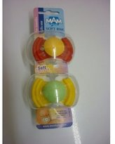 Mam Soft Rim Silicone Pacifiers for 6 Months+ (Red/Yellow)