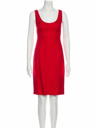Dolce & Gabbana Scoop Neck Knee-Length Dress Red