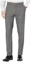 Perry Ellis Portfolio Very Slim Tonal Heathered Plaid Dress Pants (Charcoal) Men's Dress Pants
