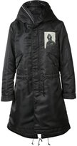 Undercover hooded parka coat