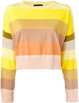 Erika Cavallini - striped jumper - women - Cotton/Polyamide - 46