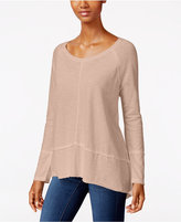 Style&Co. Style & Co. Raw-Edge Scoop-Neck Top, Only at Macy's