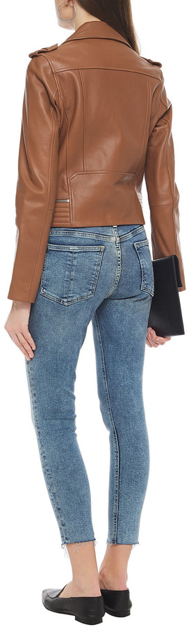 Thumbnail for your product : Rag & Bone Cate Cropped Frayed High-rise Skinny Jeans