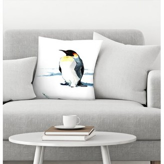 "Suren Nersisyan Emperor Penguin Throw Pillow East Urban Home Size: 14"" x 14"""