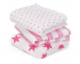 Aden Anais aden + anais Swaddle - Pink stripes and stars- set of 2