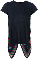 Sacai scarf panel insert T-shirt