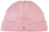 Ralph Lauren Baby Girls Striped Beanie - Pink
