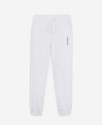 The Kooples White joggers in fleece with lace trim