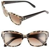 Kate Spade Women's 'Johanna' 53Mm Retro Sunglasses - Havana/ Black