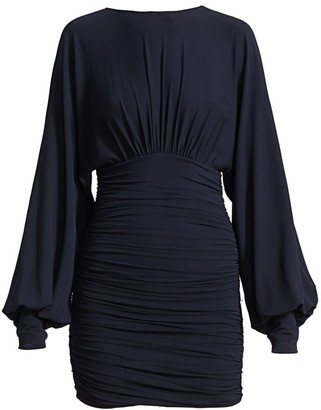 Alexandre Vauthier Blouson Sleeve Ruched Mini Dress