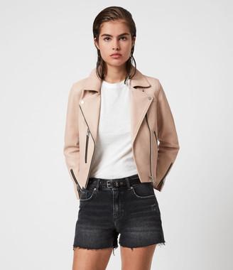 AllSaints Kassia Leather Biker Jacket