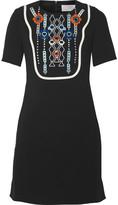 Peter Pilotto Atari embellished crepe mini dress