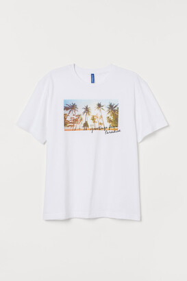 H&M T-shirt with Motif - White