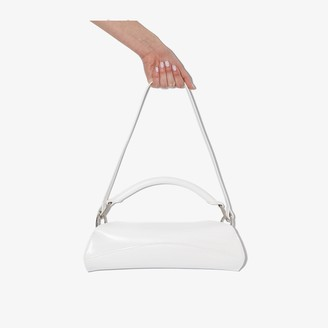 Venczel White Elan leather shoulder bag