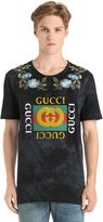 Gucci Cotton Jersey T-Shirt W/ Imitation Print