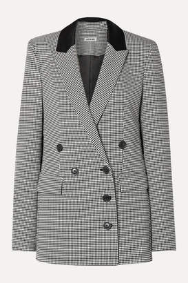 Jason Wu Double-breasted Houndstooth Woven Blazer - Black
