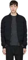 Neil Barrett Black Down Bomber Jacket
