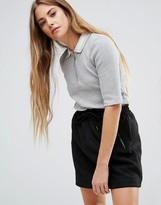 Brave Soul Top With Contrast Collar