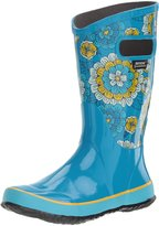 Bogs Girl's Rain Boot Pansies Ankle-High Rubber Rain Boot - 1M