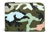 Valentino Camouflage print nylon zip pouch