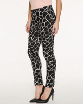 Le Château Giraffe Print Cotton Skinny Leg Pant