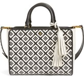 Tory Burch Small Robinson Woven Leather Tote