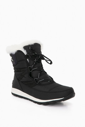 Sorel Black Whitney Short Lace Boots