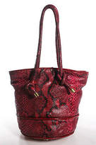 Devi Kroell Red Black Python Open Top Tote Handbag
