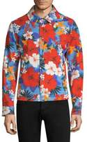 Ami Floral Cotton Snapped Jacket