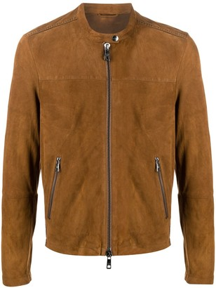 Giorgio Brato Leather Short Jacket