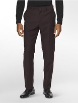 Calvin Klein X Fit Ultra Slim Fit Raisin Suit Pants