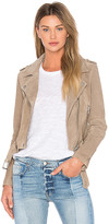 Blank NYC BLANKNYC Suede Moto Jacket in Taupe. - size L (also in M,S,XS)