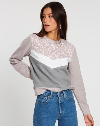 All About Eve Combine Cheetah Crew Sweater