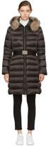Moncler Black Down & Fur Tinuviel Coat