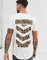 Le Breve leopard back print t-shirt